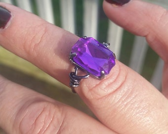 handcrafted wire wrapped crystal ring