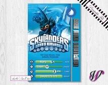 Skylanders Birthday Invitation - Trap Team - WATER - Lob Star - SLW5-I