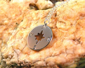 Compass Charm Necklace - Compass Pendant
