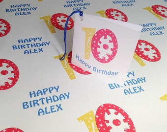 Personalised Happy Birthday Wrapping Paper - Name & Age - GW004YR