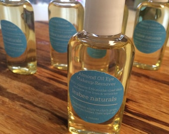 Vegan Almond Oil Makeup Remover • Natural Makeup Remover • Chemical Free Makeup Remover • Natural Cleansing Oil
