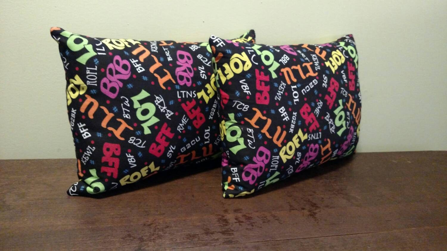 Mini Travel/Decorative Pillows by TheStitchFairies on Etsy