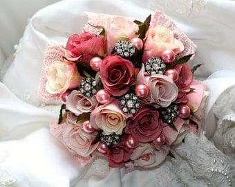 Fabulous Pink Brooch Bouquet