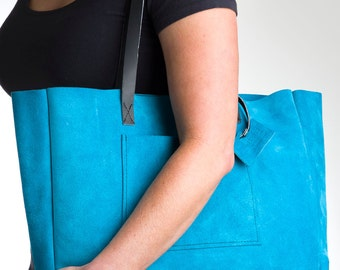 suede slouchy tote
