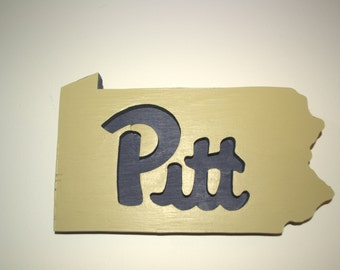 UPitt Sign, Wooden signs, College Sign