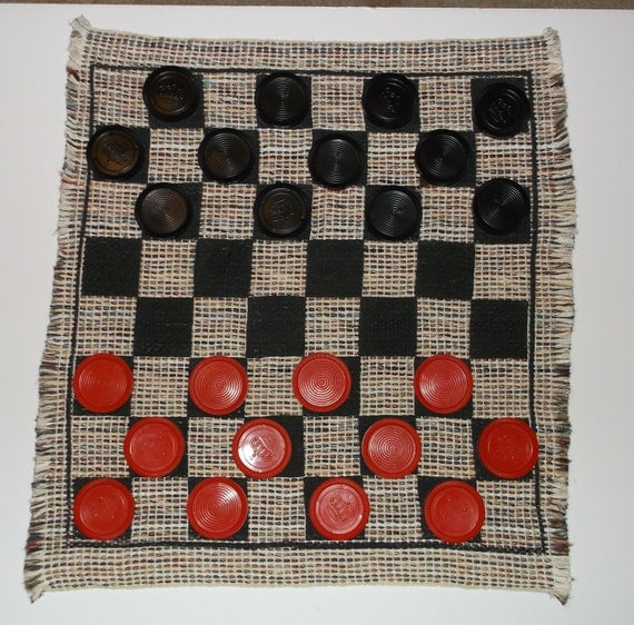 Checker Board Game Rug Large Checker Rug Big Checkers Red