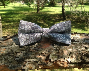 silver bow tie
