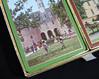 The Capitol / Governor's Palace - Williamsburg - Congress Playing Cards 2 Decks