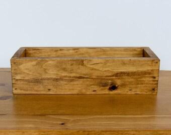 "14"" Wood Flower Box, Wedding Centerpiece, Rustic Table Centerpiece, Farmhouse Home Decor"