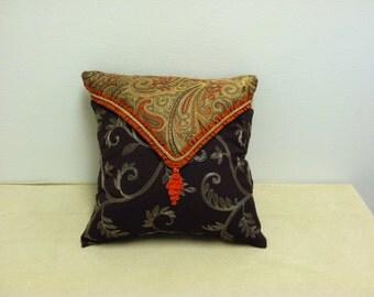 items similar to brooklyn pillow orange on etsy. Black Bedroom Furniture Sets. Home Design Ideas