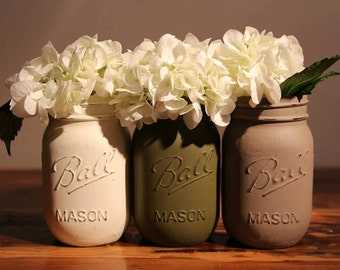 Chalk Paint Mason Jar Trio