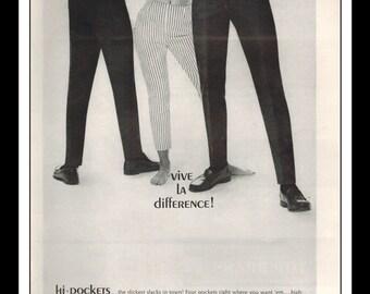 "Vintage Print Ad September 1962 : Big Yank / Amblers Fashion Clothing Wall Art Decor 8.5"" x 11"" Advertisement"