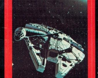 1977 OPC O-Pee-Chee Star Wars Series 2 (Red) Non Sport Trading Card Sticker Insert : #21 Millennium Falcon