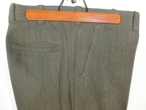 Vintage Cc Filson Gray Whipcord Wool Pants W Lower Leg Or