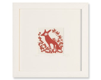 DREAMY FOX - Limited-Edition, Hand-Pulled Framed Print