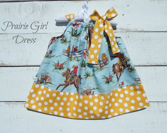 Baby Western Dress, Toddler Dress, Baby Shower Gift, Summer Outfit