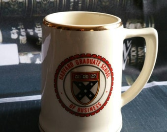 "Vintage 1980's AMERICAN ""HARVARD School of Business"" stoneware tankard!!! (International postage available!!!)"