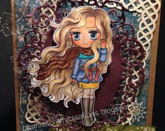 OOAK 'Uptown Girl Casandra' Handmade card