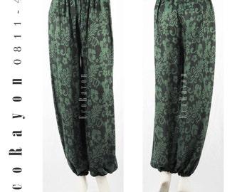 Colorful Women Harem Pants Yoga Baggy Gypsy Pants Rayon Pants Genie Hippie Pants Trouser One Size Fit Most 0811-42