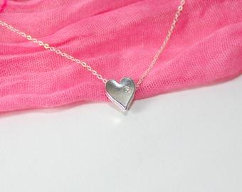 Valentines jewelery, Valentines gift, Silver heart bracelet, Heart bracelet, Love bracelet, Heart jewelry, Tiny heart bracelet