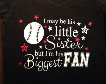 Little Sister, Biggest Baseball Fan Shirt