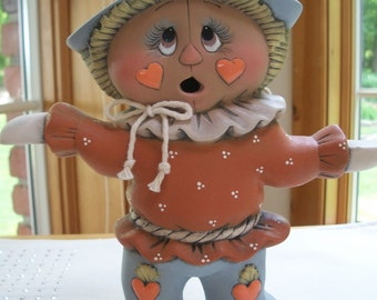 ceramic two sided scarecrow