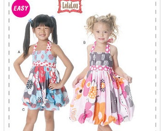 McCall's Easy LolaLou sewing pattern M6271 Childrens and Girls Top, Dress and Shorts, OUT OF PRINT pattern - new and uncut