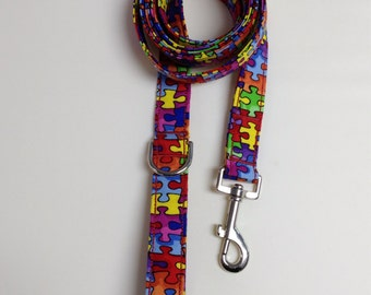 Autism Speaks Print Dog Leash