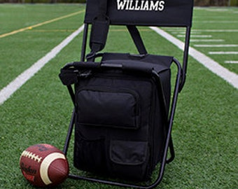 Personalized All in One Tailgate Cooler ChairGroomsmen Gift soccer Tailgate sports birthday Hunting Fishing Groomsman Camping Christmas NFL
