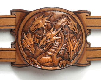 Leather cuff bracelet Mother of the Dragons