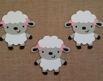 Lamb Die Cut set of 3
