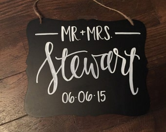 Customized Mr. + Mrs. Sign