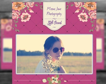 Photography Gift Card Photoshop Template for Photographers