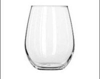 Personalized Stemless Wine Glass