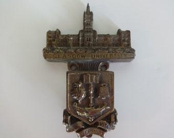 Brass Door Knocker, Glascow University Brass Door Knocker, Door Knocker, Metal Door Knocker, Scotland University Door Knocker