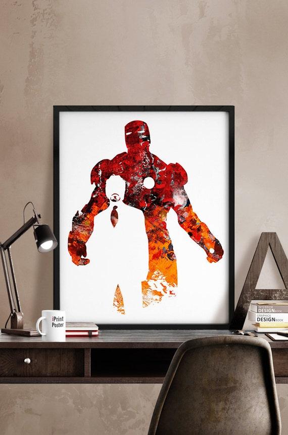iron man print avengers print superhero poster by iprintposter