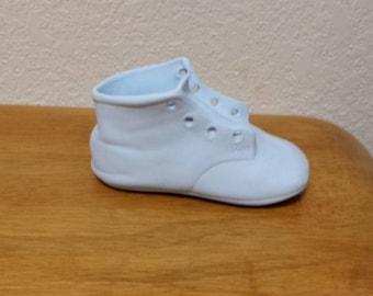 Ceramic Blue Baby Boy Shoe (#455)