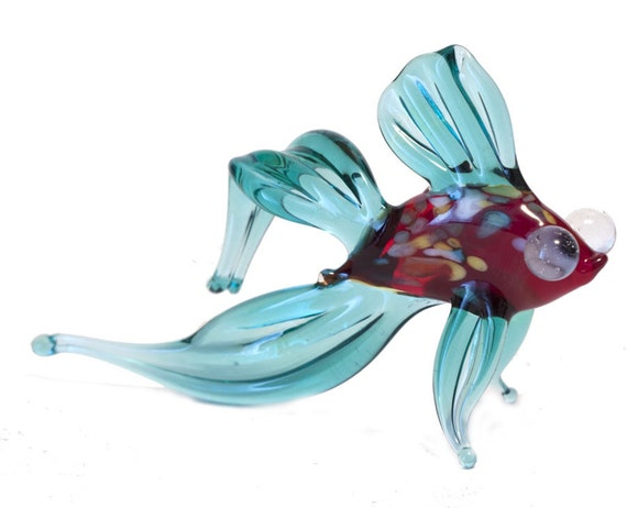 Glass fish hand blown collectible figurine code by for Blown glass fish