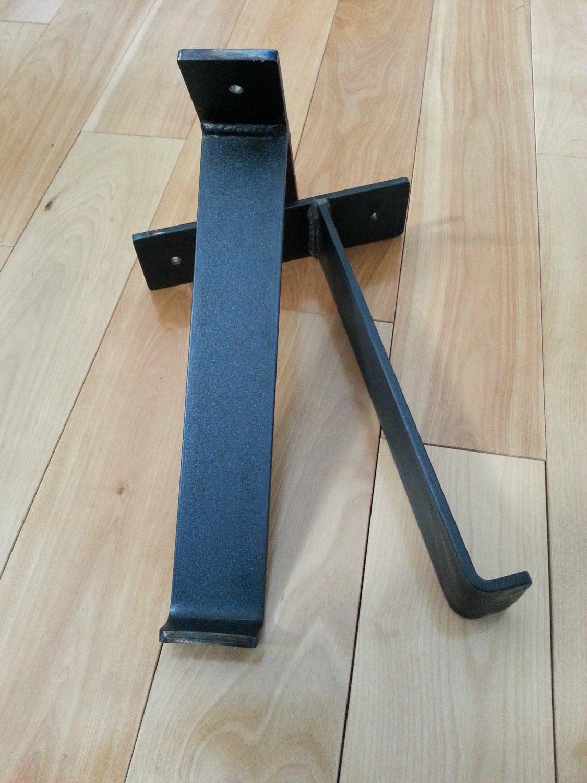 welded hand forged shelf brackets black iron shelf brackets