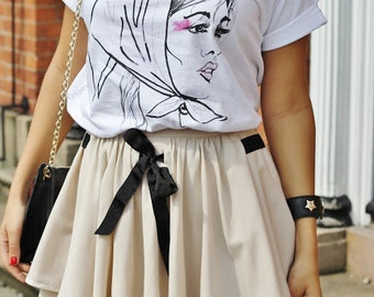 fashion sketch t shirt