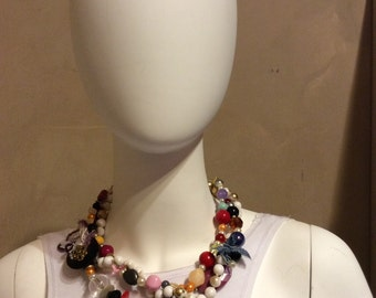 Necklace  bead  vintage handmade  by carmen bury