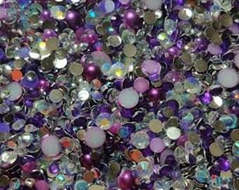 Rhinestone Pearl Mix - Purple People Eatter