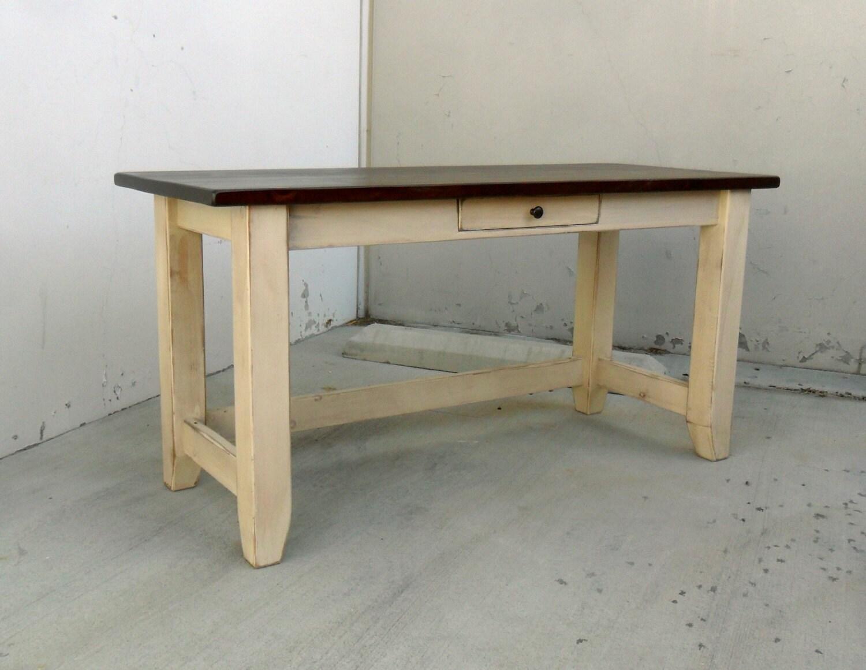 Desk writing table reclaimed wood office desk rustic - Reclaimed wood office desk ...