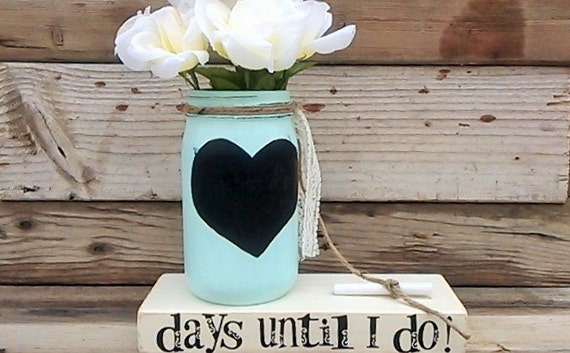 Wedding Countdown Gifts For Groom : Wedding countdown-Engagement gift-Chalkboard countdown-Unique couples ...