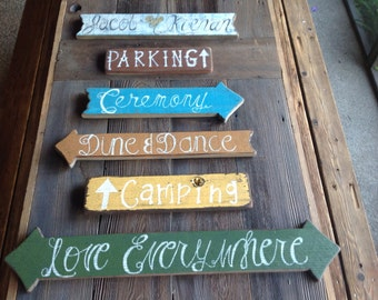 Wedding Signs, Wedding Directional Signs, Personalized Wedding Signs, Rustic Wedding, Outdoor Wedding, Table Seating, Wedding Seating