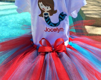 Personalized Under the Sea tutu Outfit