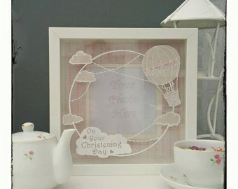 Commercial use, Make your own Sky Frame papercut template. Designed by Curious Bird Keepsakes