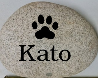 Custom Engraved Pet Rock - Engraved Rock, Stone, Dog, Cat, namesake, etched rock, etched stone, Sandblast