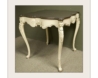 French Style Two-Tone Table