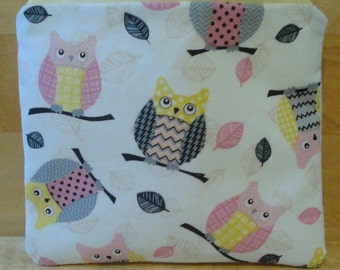 Pink and Yellow Owl Coin Purse